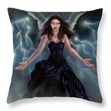 On The Wings Of The Storm Throw Pillow