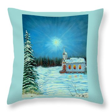 On This Night Throw Pillow by David Bentley