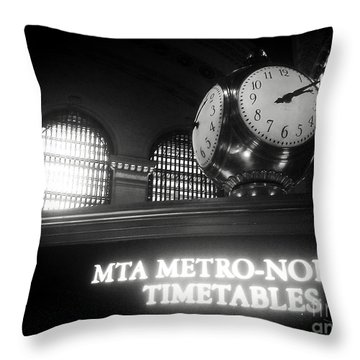 On Time At Grand Central Station Throw Pillow