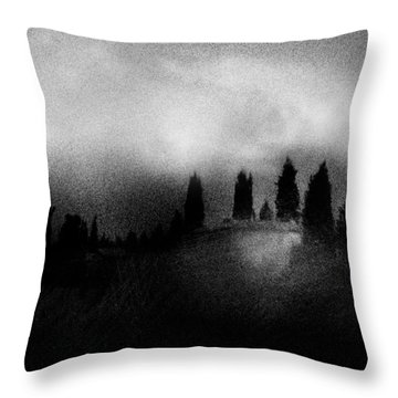 On Top Of The Hill Throw Pillow by Celso Bressan