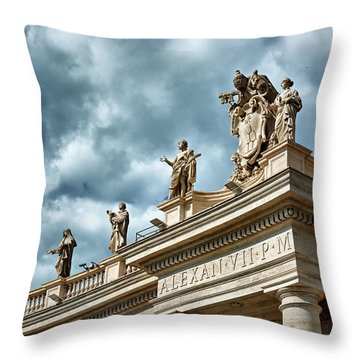On Top Of The Tuscan Colonnades Throw Pillow