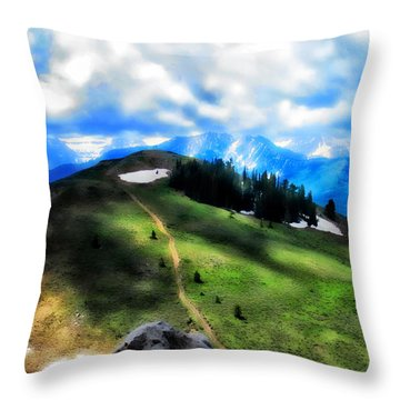 Throw Pillow featuring the photograph On Top Of The World  by Cindy Greenstein