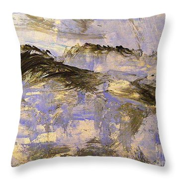 On Top Of The World Throw Pillow by Nancy Kane Chapman