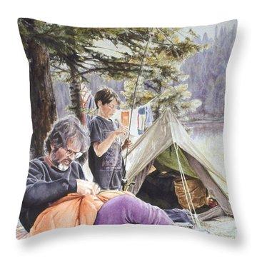 On Tulequoia Shore Throw Pillow