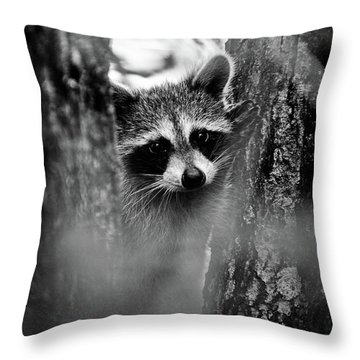 On Watch - Bw Throw Pillow