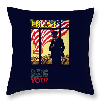 On Which Side Of The Window Are You Throw Pillow by War Is Hell Store