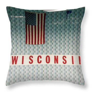 On Wisconsin  Throw Pillow