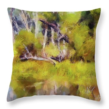 Once A Great Tree Throw Pillow