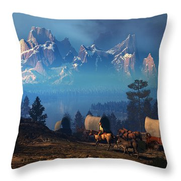 Once But Long Ago Throw Pillow