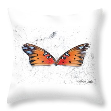 Once Flown Throw Pillow