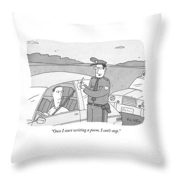 Once I Start Writing A Poem Throw Pillow