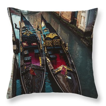 Once In Venice Throw Pillow