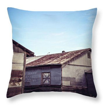 Throw Pillow featuring the photograph Once Industrial - Series 2 by Trish Mistric