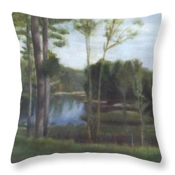 Once Throw Pillow by Sheila Mashaw