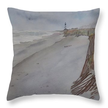 Once There Was A Lighthouse Throw Pillow
