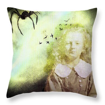 Once There Was A Spider Throw Pillow