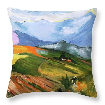 Once There Were Green Fields Throw Pillow