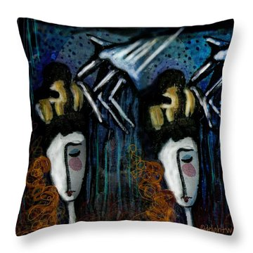 Throw Pillow featuring the digital art Once There Were Two by Delight Worthyn