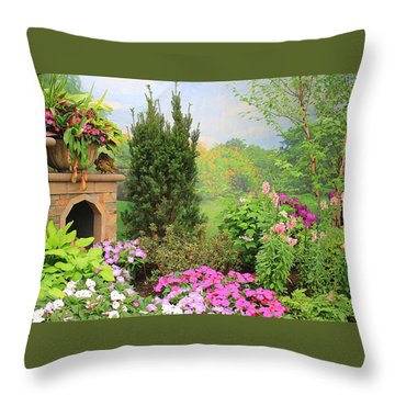Once Upon A Spring Time Throw Pillow