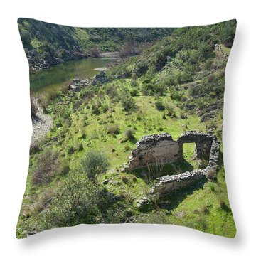 Once Upon A Time A Creek Home Throw Pillow by Angelo DeVal