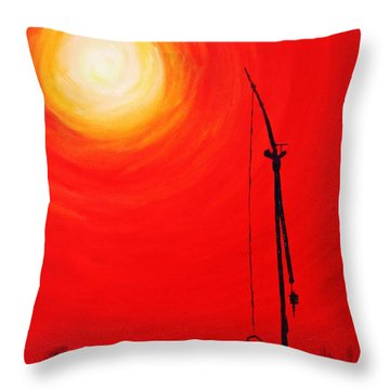 Throw Pillow featuring the painting Once Upon A Time...  by AmaS Art