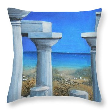 Once Upon A Time In Greece Throw Pillow