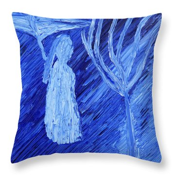 Throw Pillow featuring the painting Once Upon A Time In November by Vadim Levin