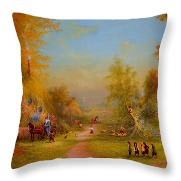 The Shire Once Upon A Time  Throw Pillow by Joe Gilronan