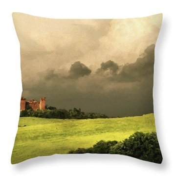 Once Upon A Time In Tuscany Throw Pillow