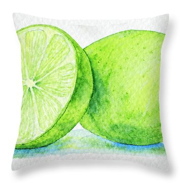 One And A Half Limes Throw Pillow