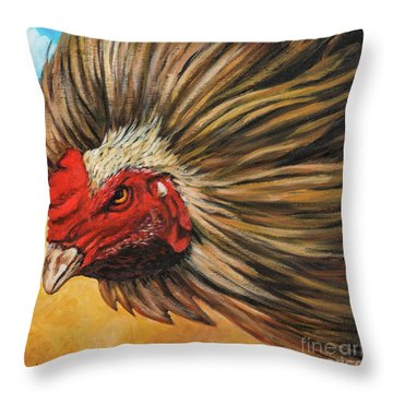One Angry Ruster Throw Pillow
