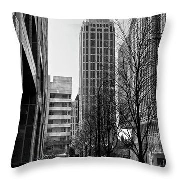 One Atlantic Center In Black And White Throw Pillow