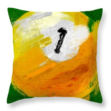 One Ball Abstract Throw Pillow by David G Paul
