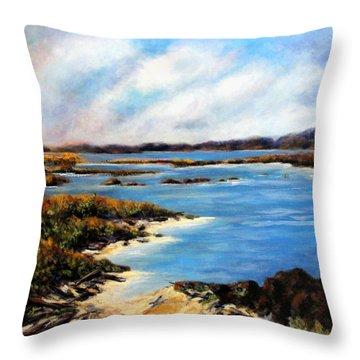 One Beach Washington Throw Pillow by Marti Green
