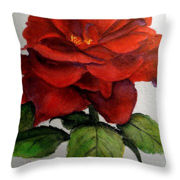 One Beautiful Rose Throw Pillow