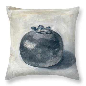 One Blueberry Throw Pillow