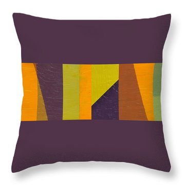 Throw Pillow featuring the painting One By Three by Michelle Calkins