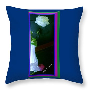 One Carnation And One Rose Bud Throw Pillow