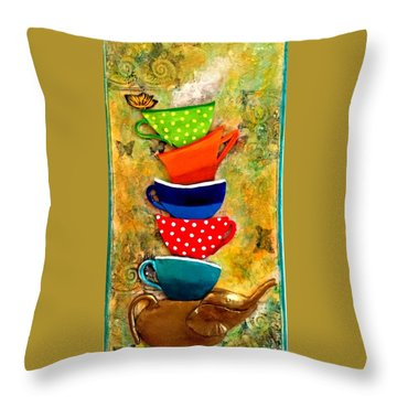 One Cup At A Time Throw Pillow