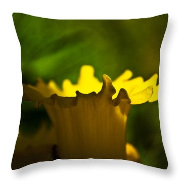 One Daffodil Throw Pillow by Svetlana Sewell
