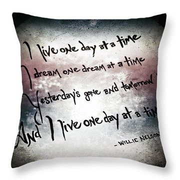 Throw Pillow featuring the photograph One Day.... by Trish Mistric