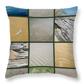 One Day At The Beach Ll Throw Pillow