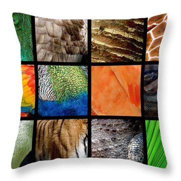One Day At The Zoo Ll Throw Pillow
