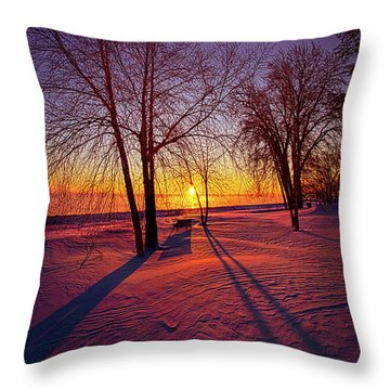Throw Pillow featuring the photograph One Day Closer by Phil Koch