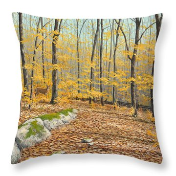 One Day In October Throw Pillow