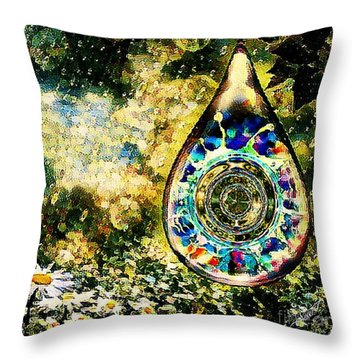 One Drop In The Rain Throw Pillow