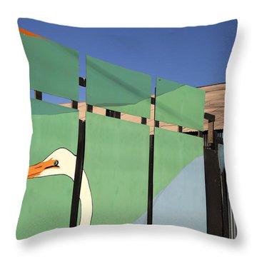 One Egret Throw Pillow