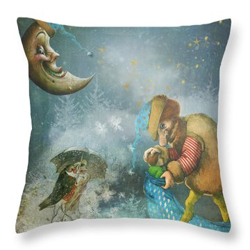 One Enchanting Evening Throw Pillow by Diana Boyd