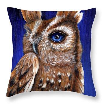 One Eye Willy Throw Pillow