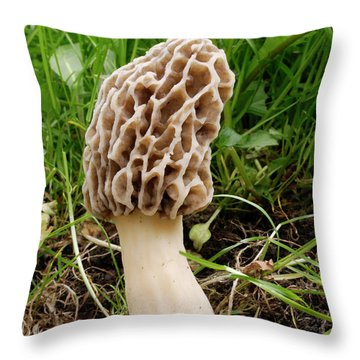 One Fine Morel Throw Pillow